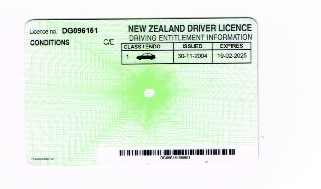 new zealand fake id back